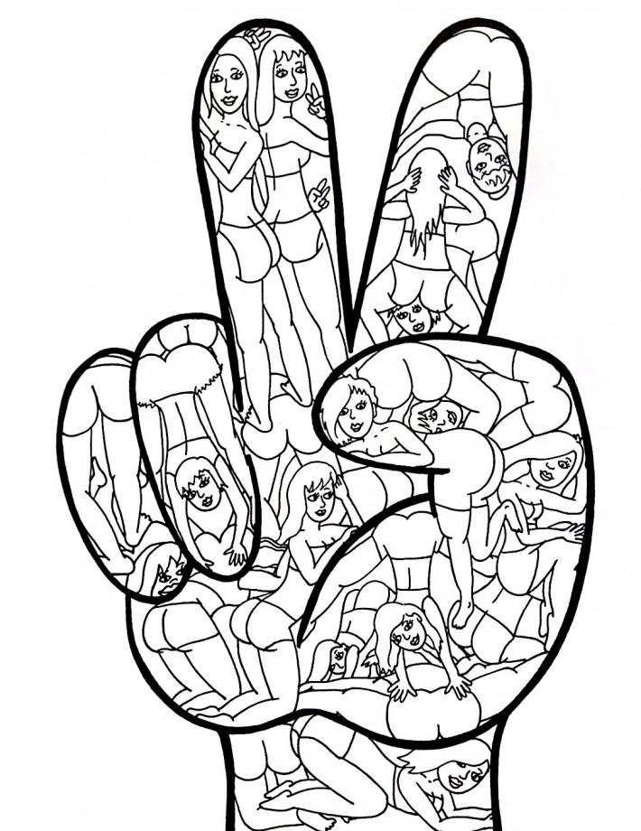 twerk peace hand