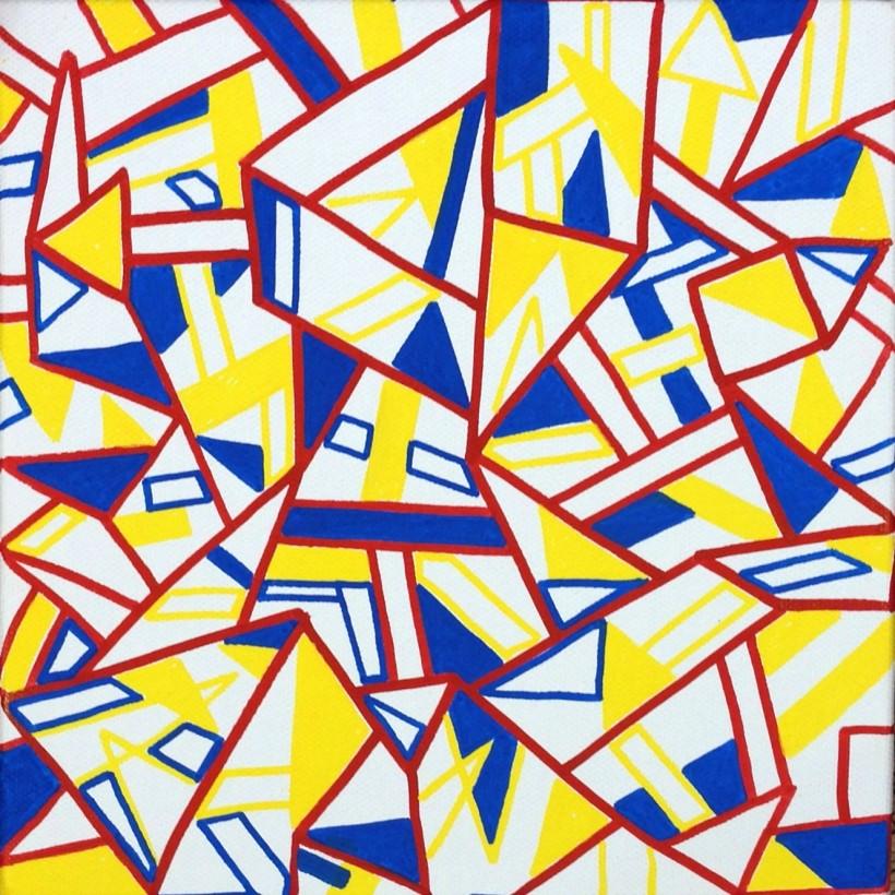 "Acrylic paint 8"" x 8"" 2013"