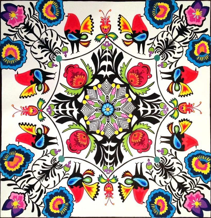 polish radial symmetry painting