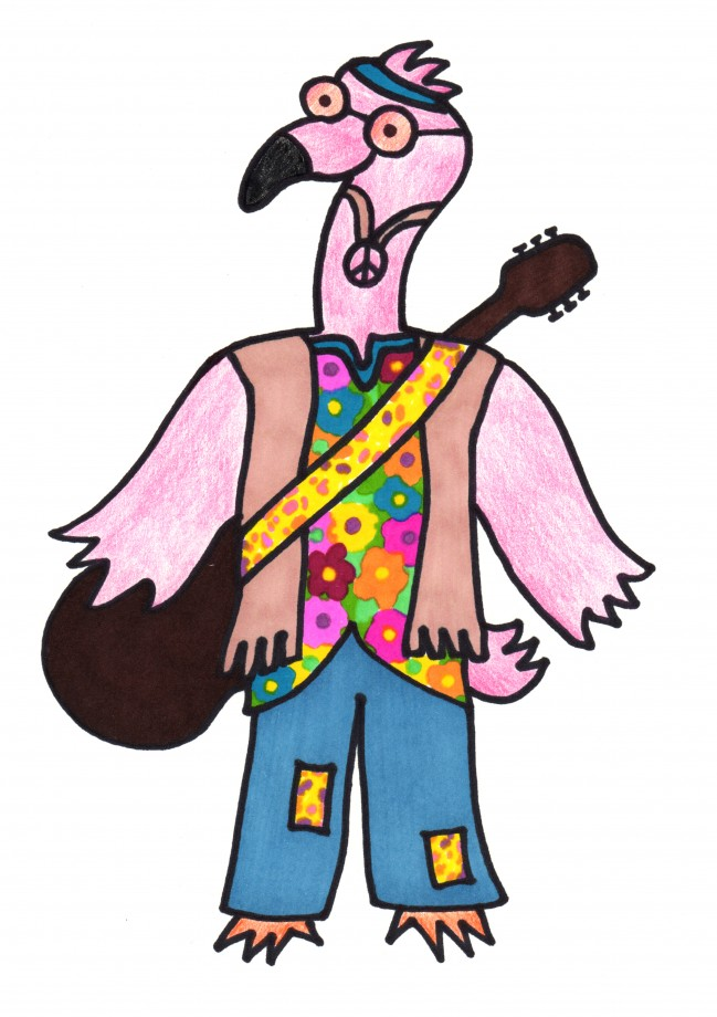 flamingo hippie